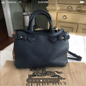 FLASH SALE Burberry 🔥 Small Banner Tote Navy